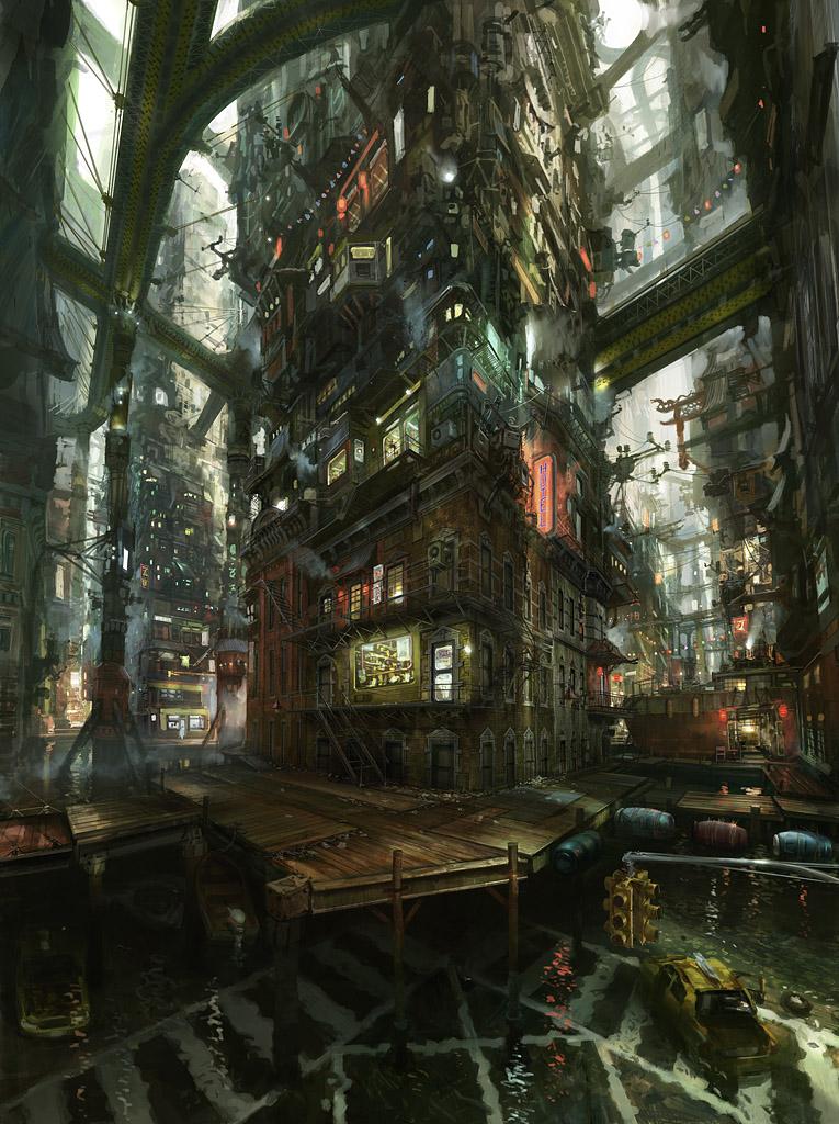 digital painting incroyables du Concept artist et Matte painter John Wallin Liberto