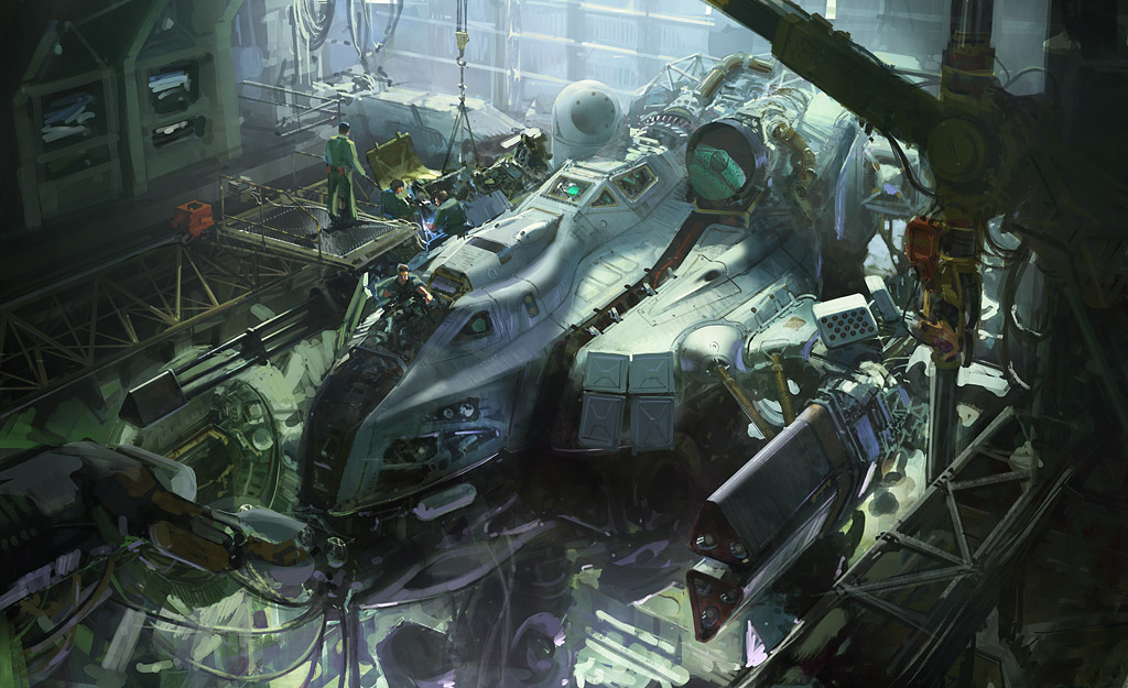 digital painting incroyables du Concept artist et Matte painter John Wallin Liberto