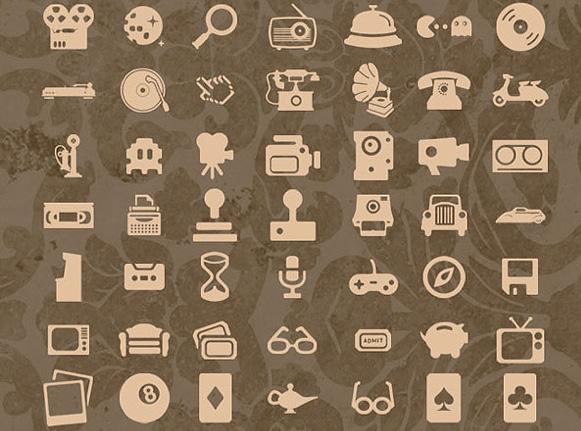Pack d'icônes rétro gratuit