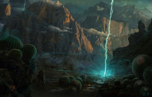 Desktopography 2013 : March of the Druids matte painting
