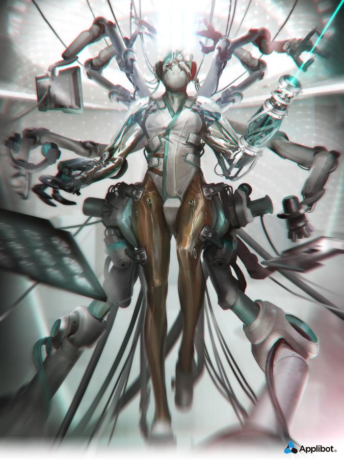 Les concept arts de personnages du digital painter Fred Augis