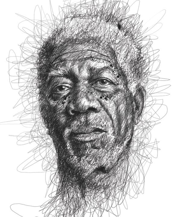 Des portraits de célébrités incroyables à partir de gribouillis au stylo