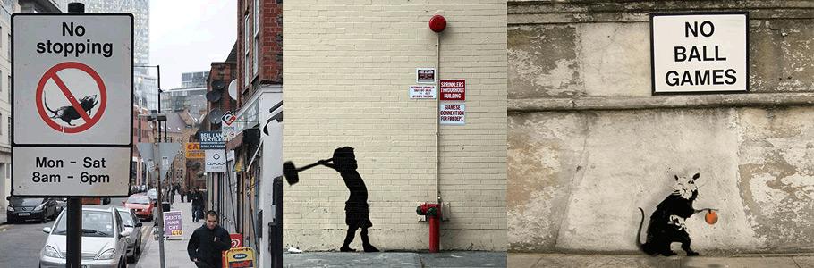 Les oeuvres du célèbre Banksy prennent vie en gifs animés