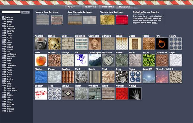 Le meilleur du web : CG textures