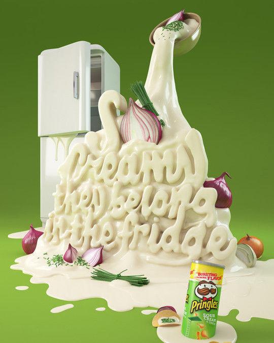 30 Designs de typographies à partir de nourriture