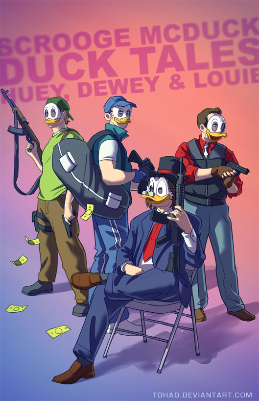Les personnages de dessins animés BADASS de Tohad