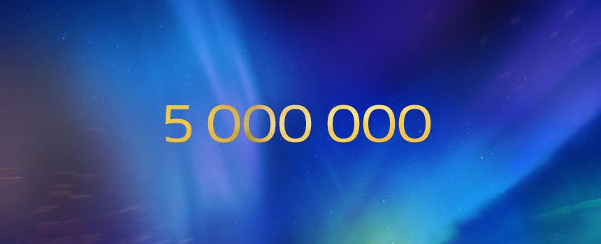 5 000 000 de pages vues depuis le lancement !