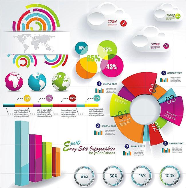 100 infographies premium à télécharger chez MightyDeals