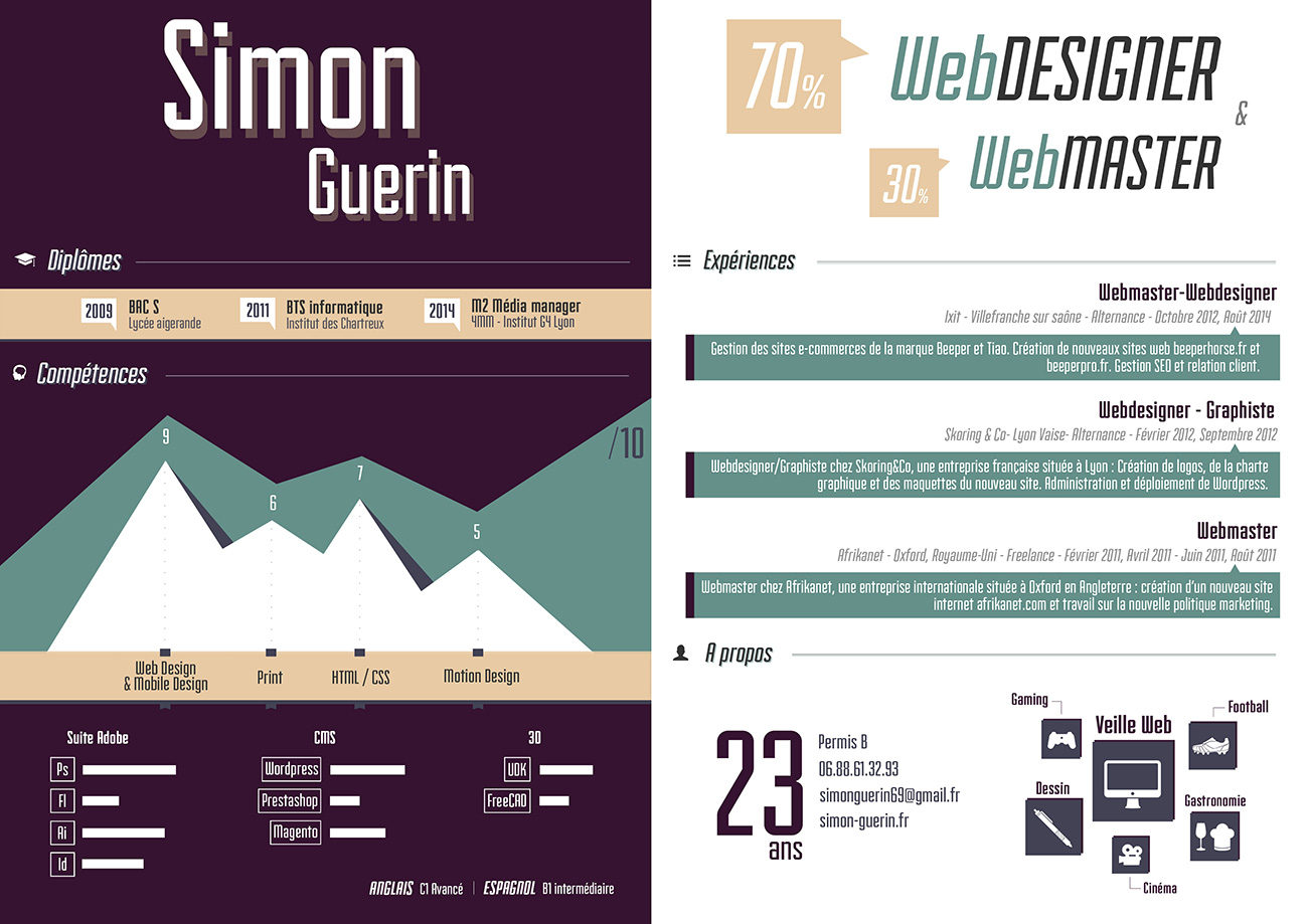 Critique du CV de Simon G.