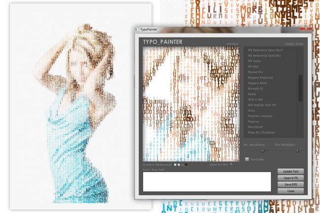 Téléchargez Typo-Painter et créez des illustrations à partir de typographie