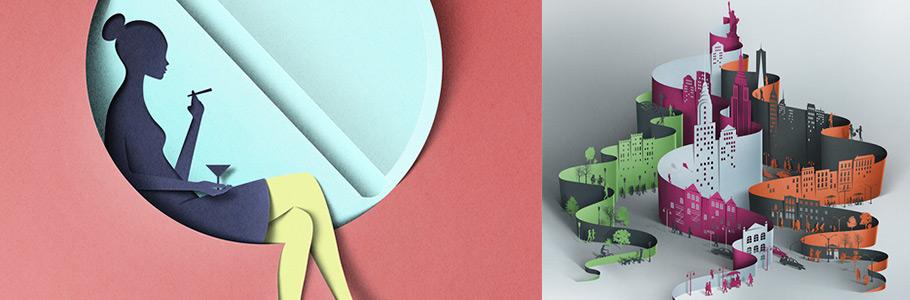Ce que réalise Eiko Ojala avec du papier découpé est stupéfiant