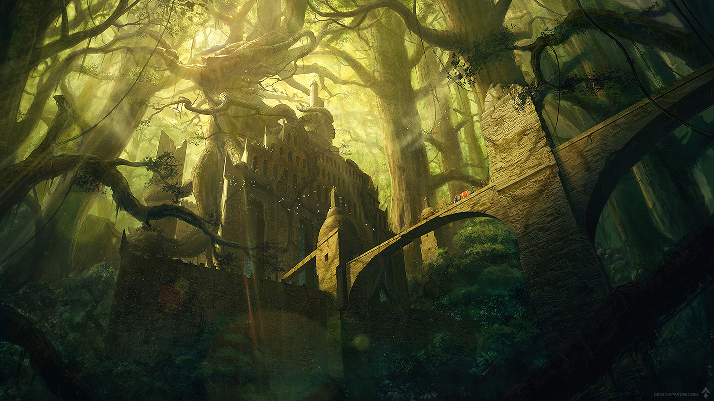 Nouvelle création : «The Fortress II», digital painting de Spartan
