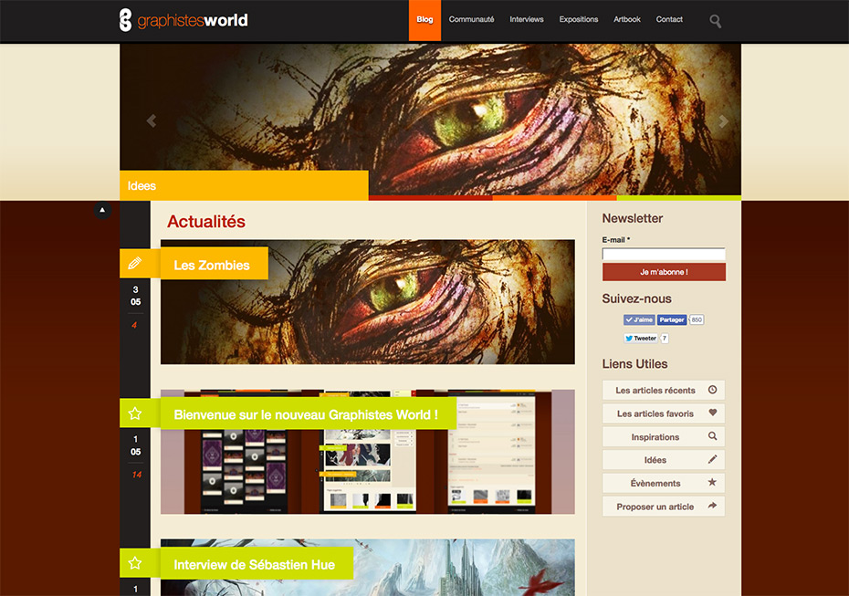 Graphistes-World : nouveau site