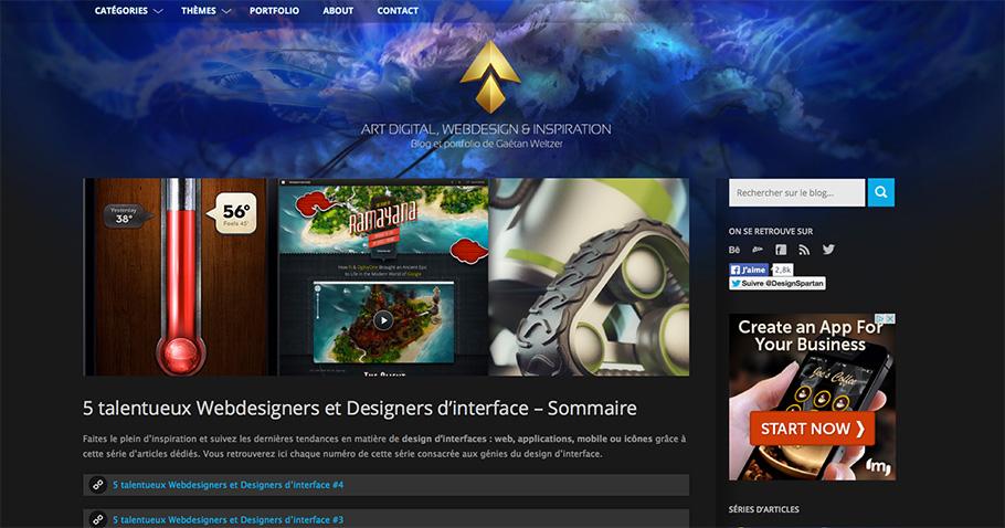 Inspiration webdesign et ux