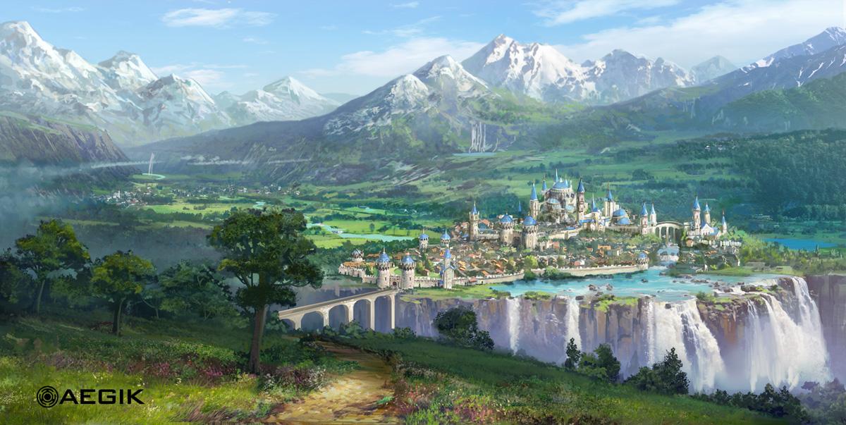 Les digital paintings d'environnements de fantasy de Tyler Edlin