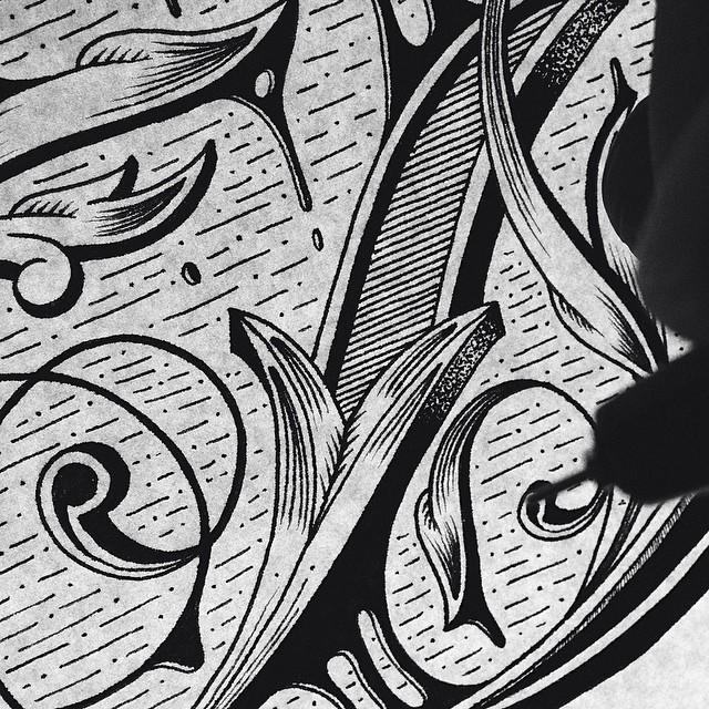 Illustration typographiques faites à la main de Raul Alejandro