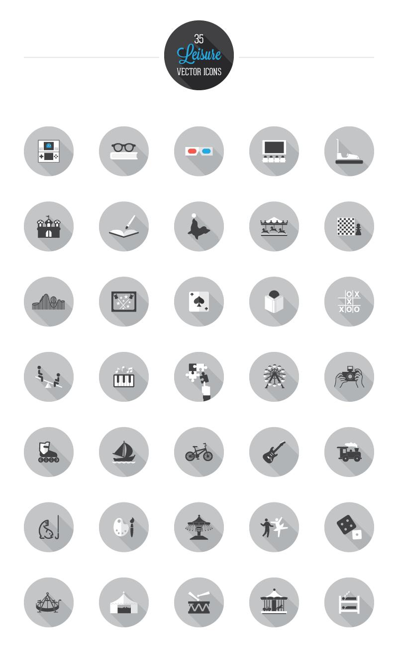 35 icônes de loisirs à télécharger gratuitement en exclusivité