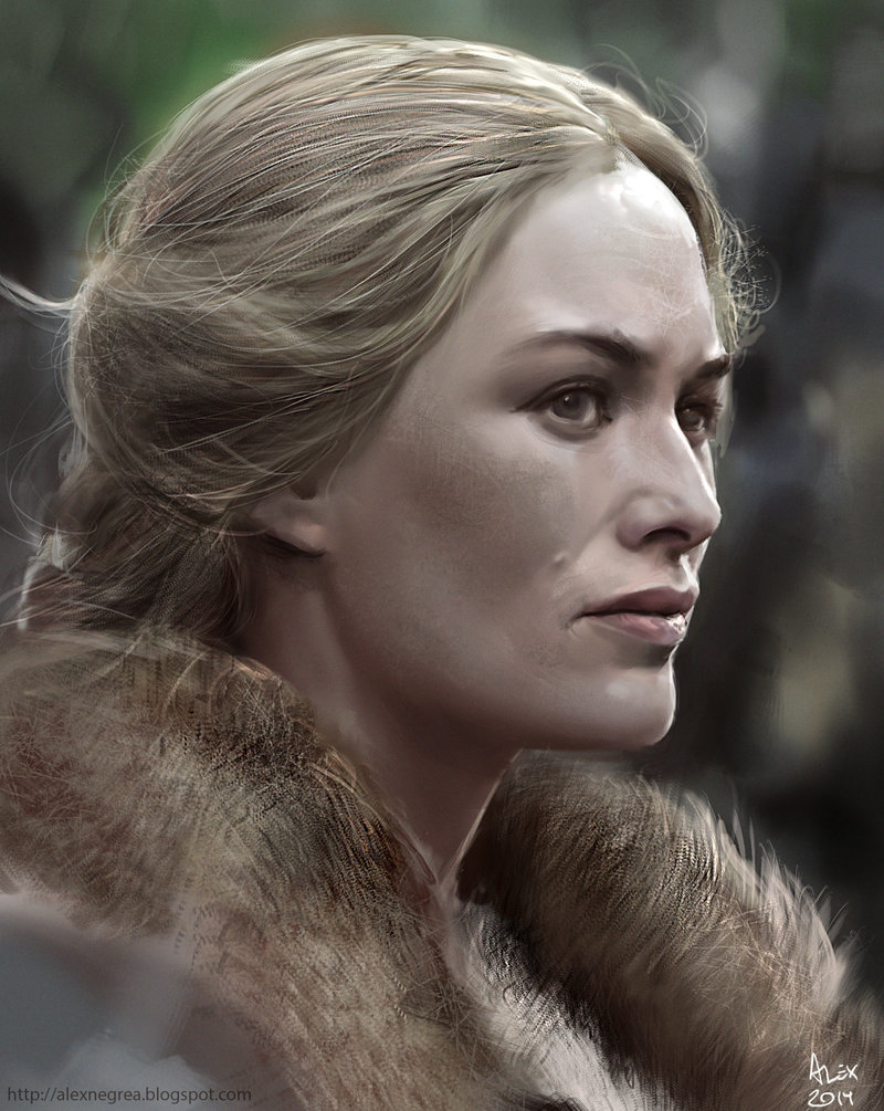 Les personnages de Game of Thrones en digital painting