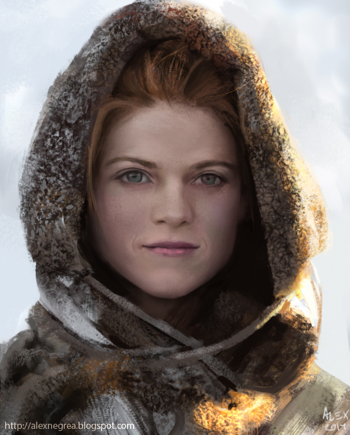 Les personnages de Game of Thrones en digital painting