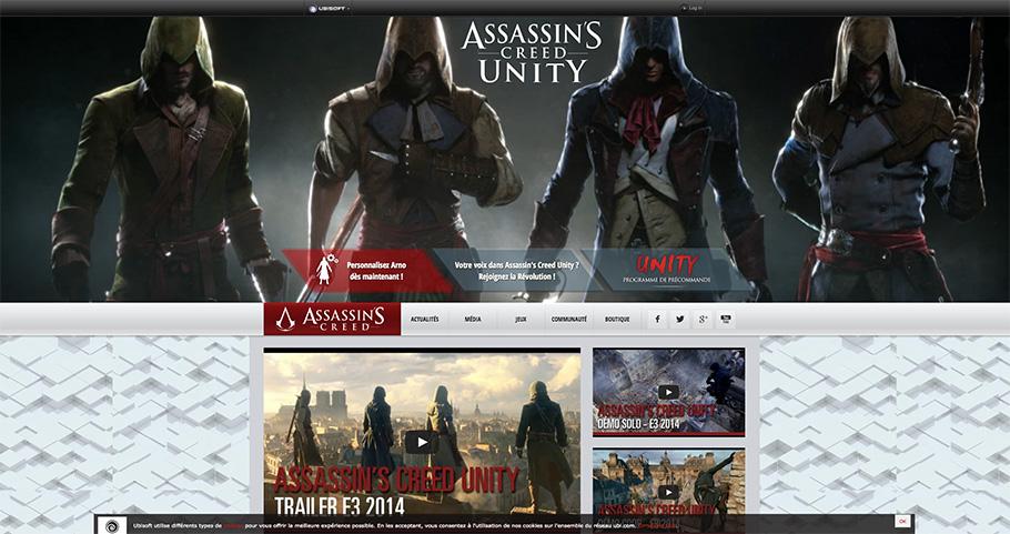 Tendances en webdesign : sites de jeux vidéo en 2014