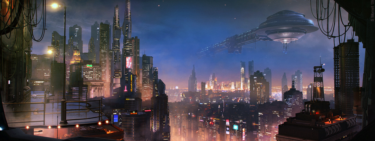Les incroyables matte paintings de science-fiction de Stefan Morell