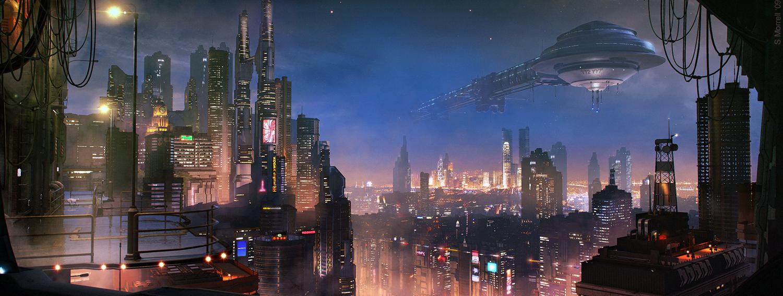 Les incroyables matte paintings de science-fiction de Stefan Morell