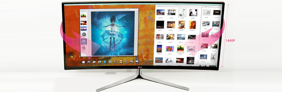 LG sort le premier écran 21:9 courbé