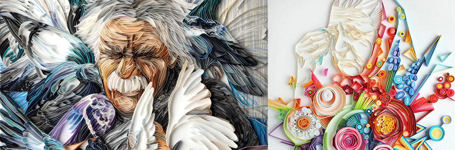 Les illustrations et portraits en papier de Yulya Brodskaya sont incroyables !