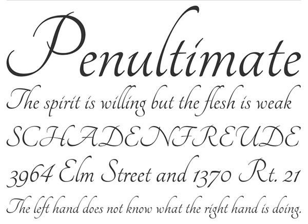 20 typographies calligraphiques ou à ruban