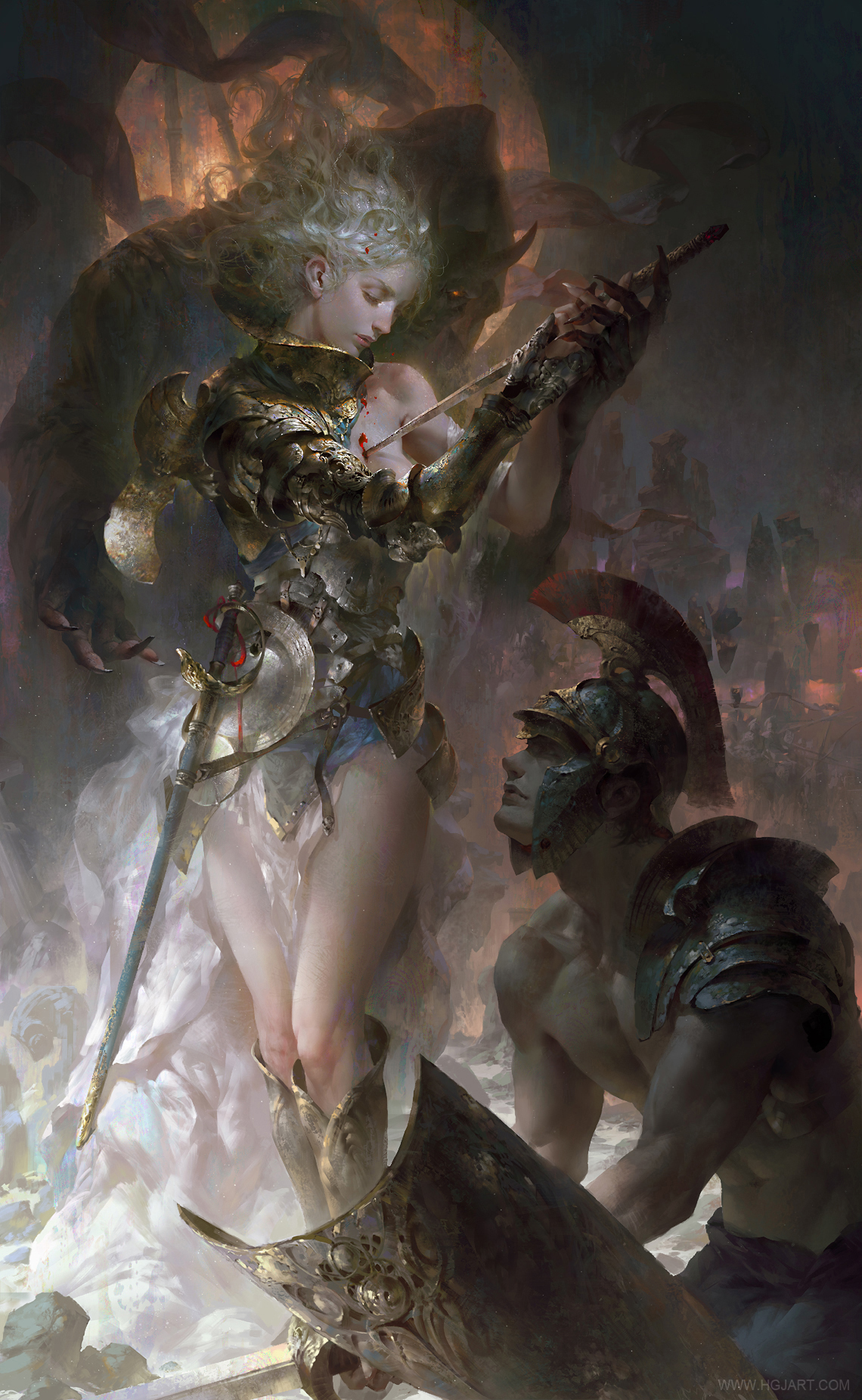 Les magnifiques digital paintings du maître Guangjian Huang