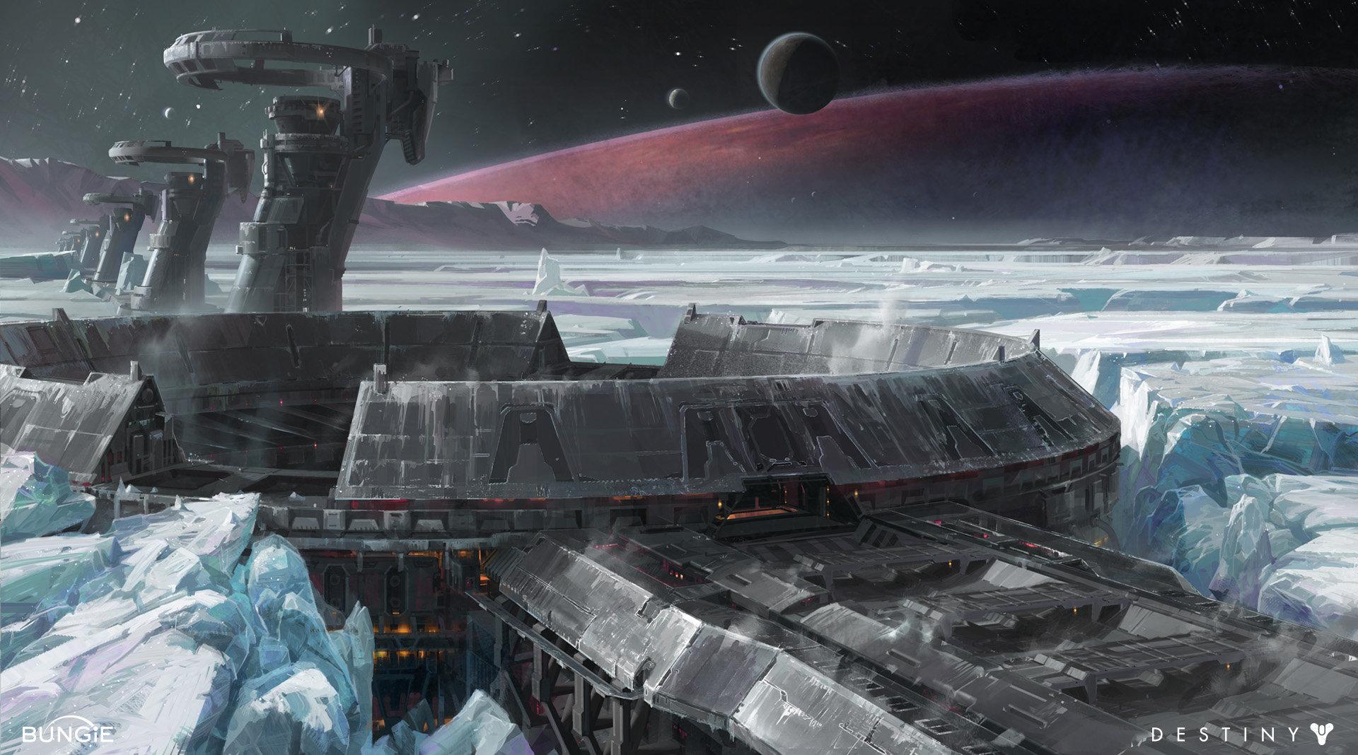 Les concept arts d'environnements du jeu Destiny par Dorje Bellbrook
