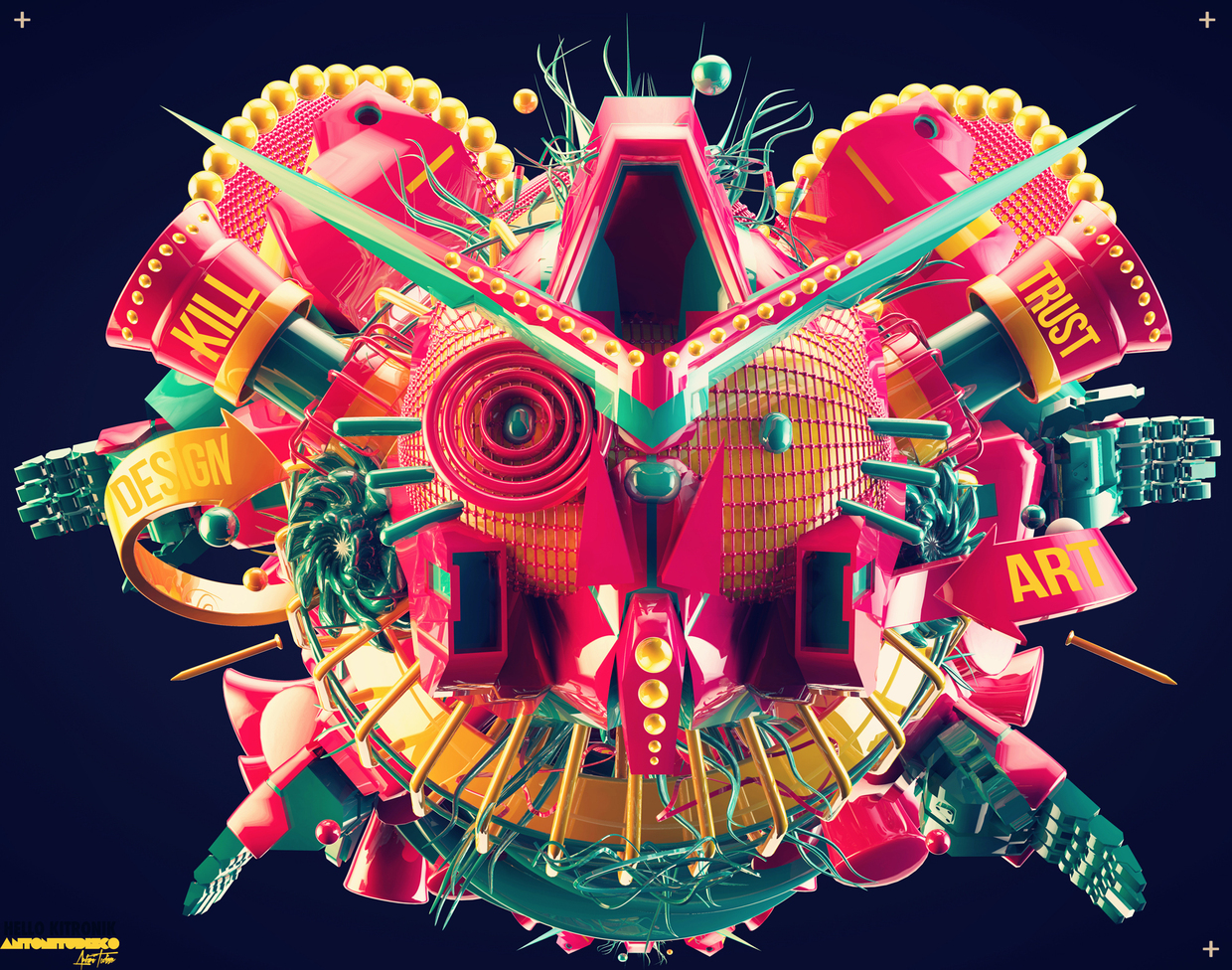 Les illustrations 3D tendances d'Antoni Tudisco