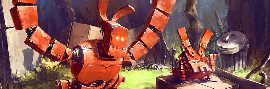 Les robots attachants et concept arts d'Assassin's Creed de Max Qin