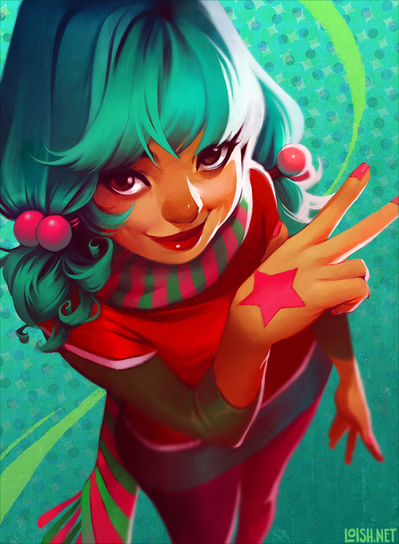 "Les digital paintings ""girly"" de Loish aka Lois van Baarle"