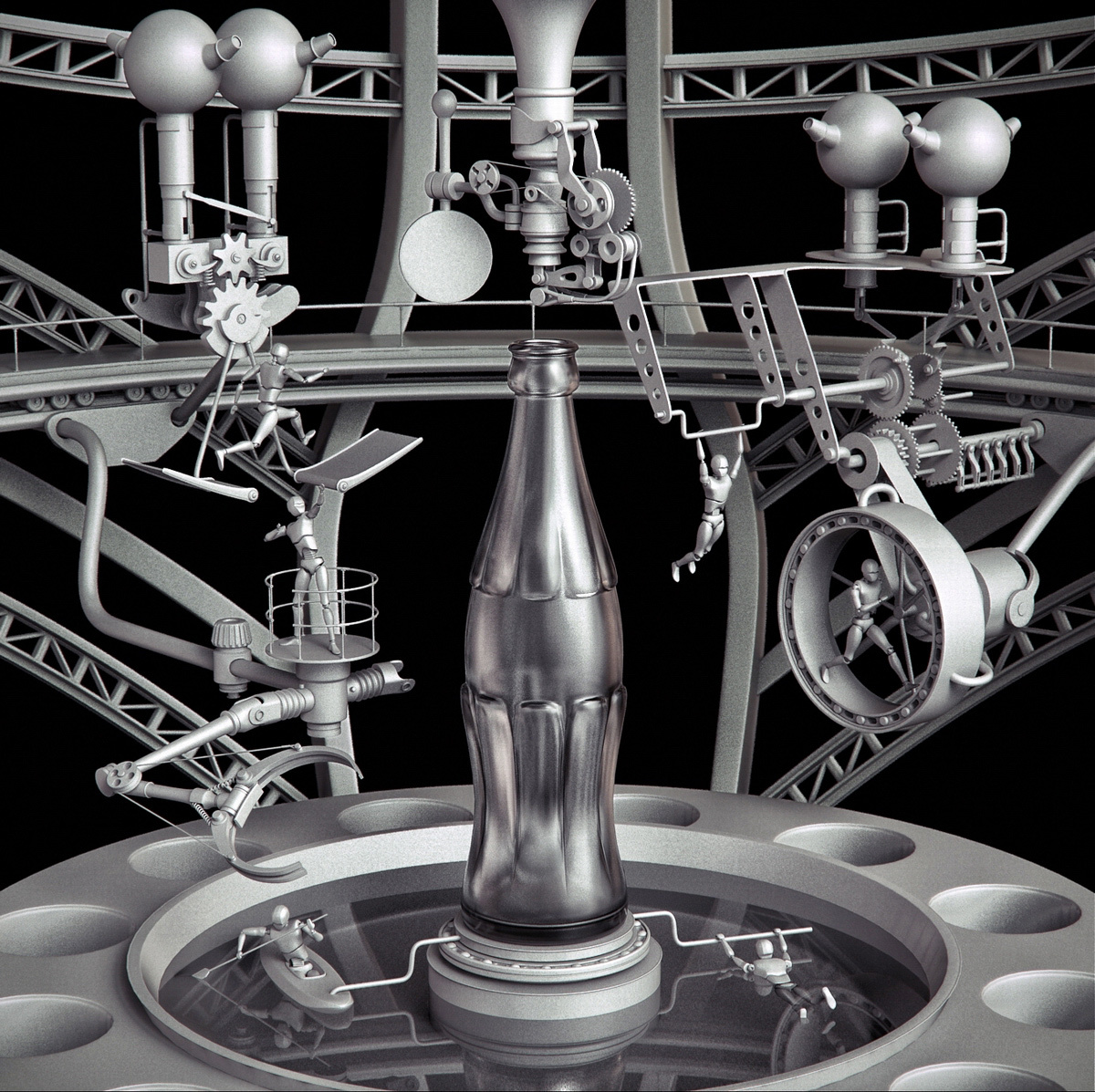 Les créations 3D d'art digital ultra détaillées d'Aleksandr Kuskov