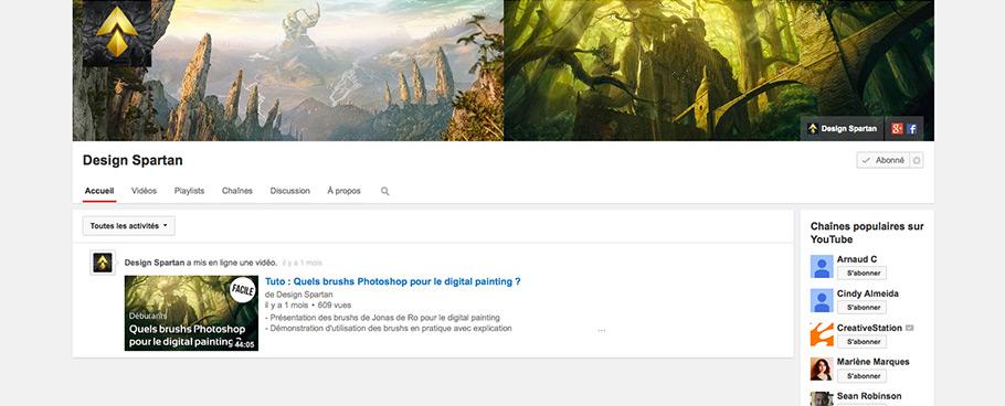 Nouveau : chaîne Youtube de Design Spartan pour plus de tutoriels et de vidéos