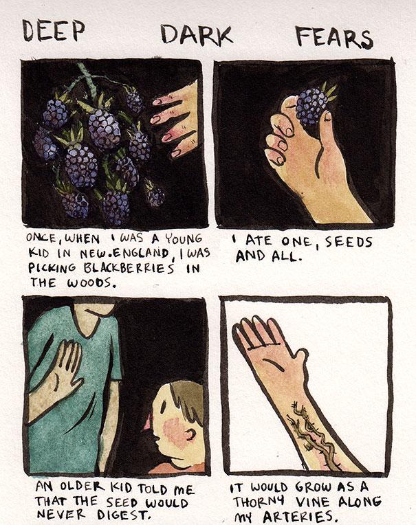 """Cet illustrateur dessine vos plus grandes peurs en BD """"trop cutes"""""""