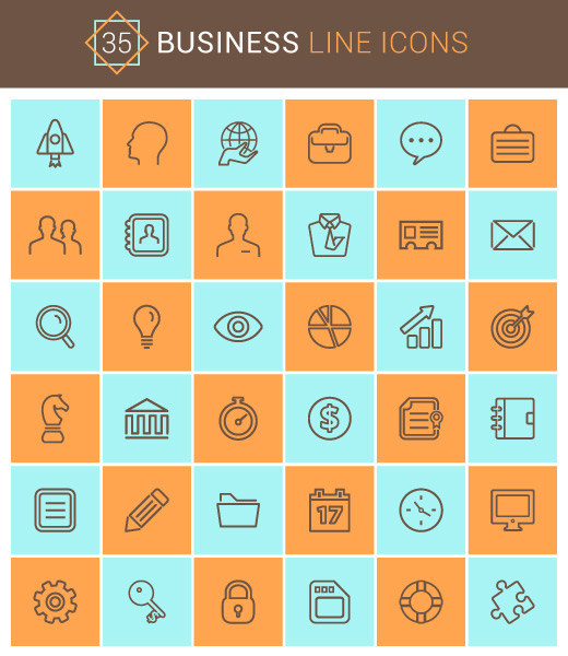 35 icônes de business minimalistes gratuites en exclusivité