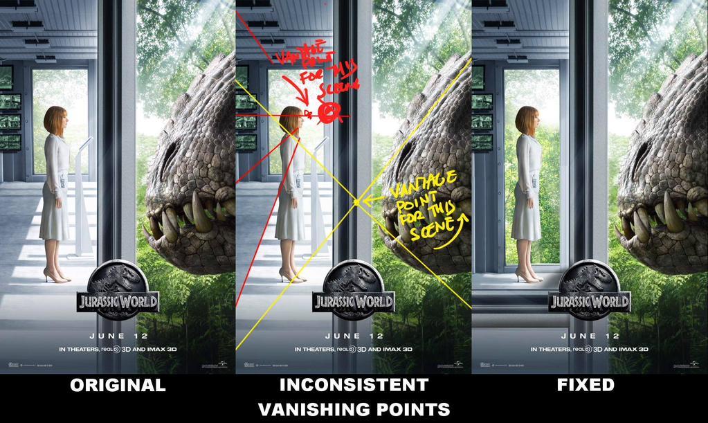 Pourquoi l'affiche de Jurassic Park est un désastre Photoshop