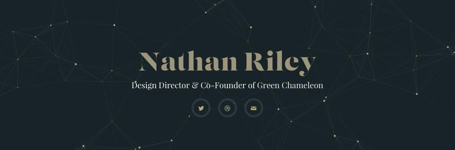 Nathan Riley, talentueux Webdesigner et Designer d'interface #13