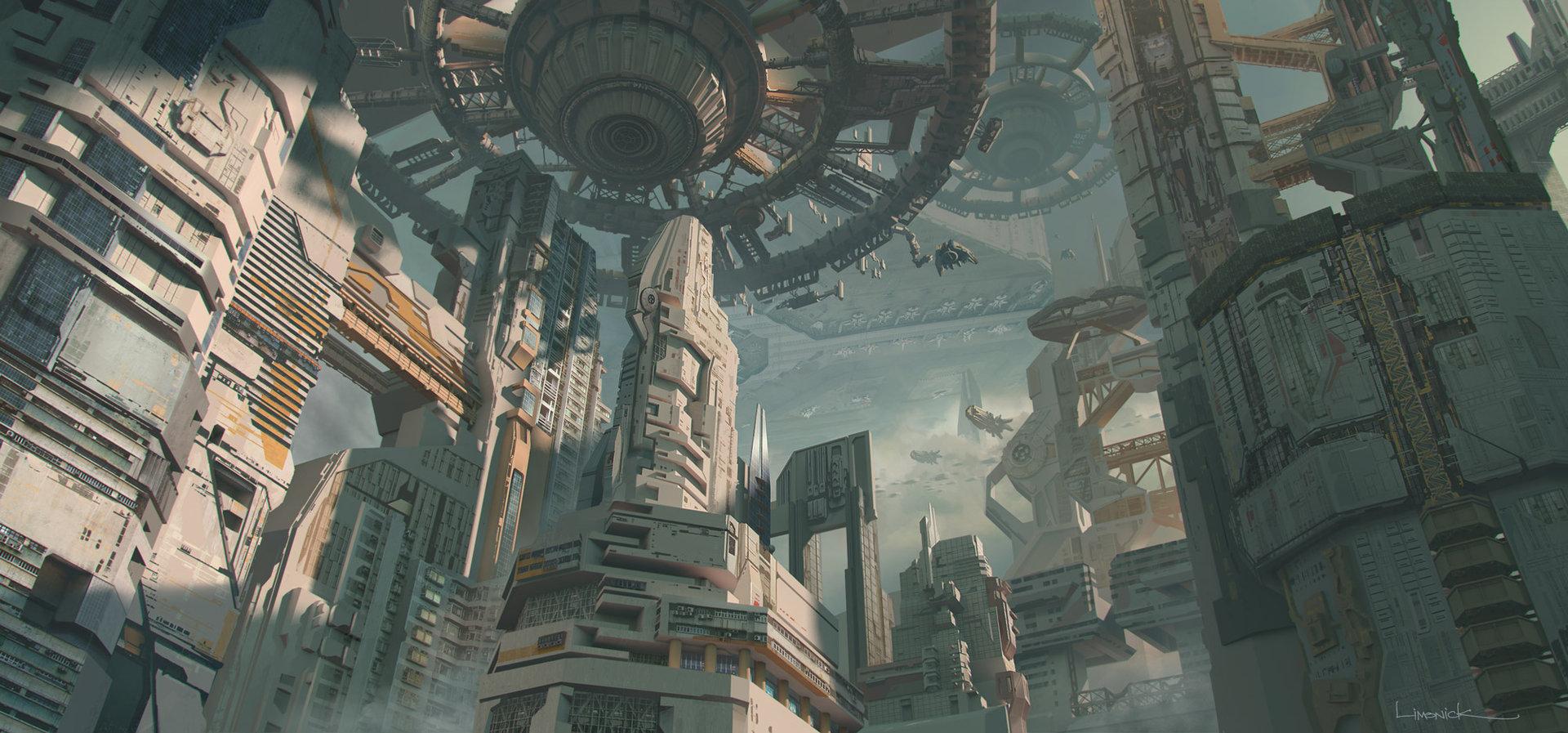 Voyagez loin avec les concept arts d'environnement d'Aaron Limonick