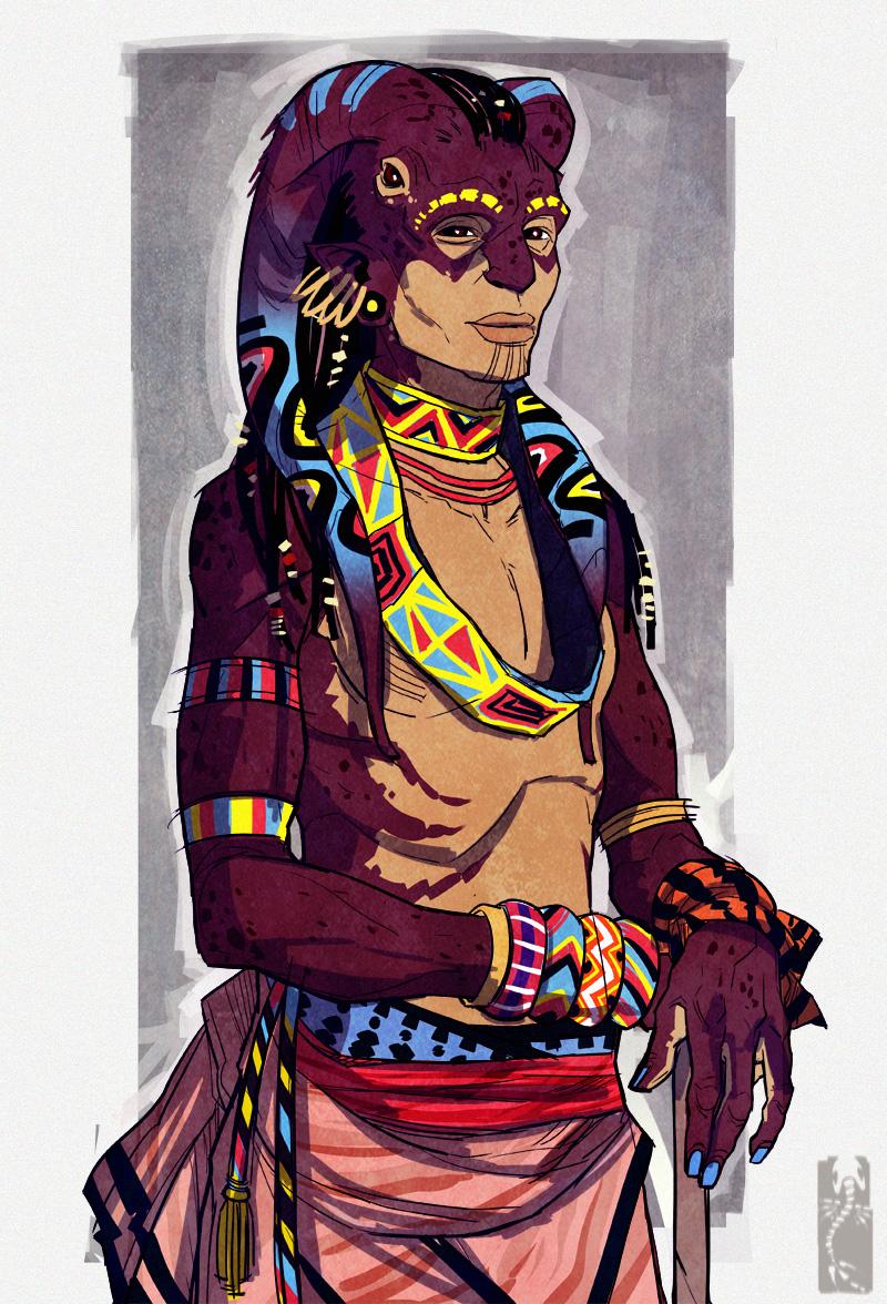 De la classe avec les personnages uniques en digital painting de Zarnala