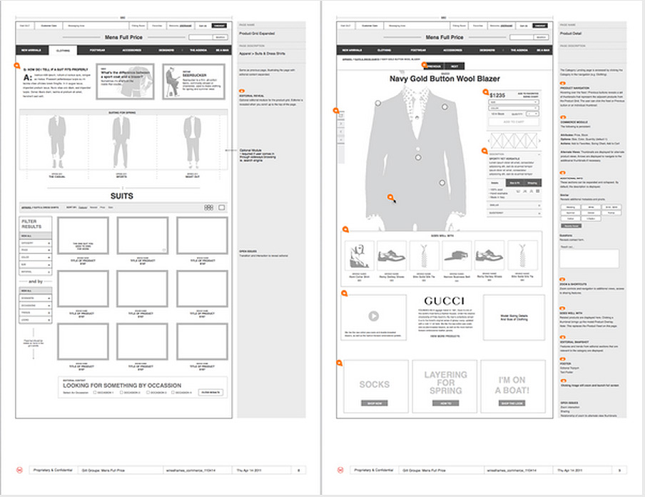 Exemple de wireframing UX design