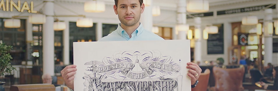 Stupéfiant : Jake Weidmann, le plus jeune maître calligraphe au monde