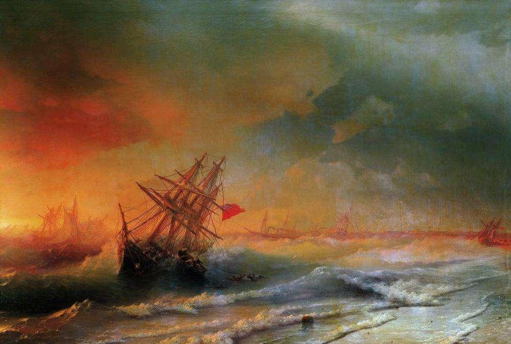 Les peintures de vagues translucides hypnotisantes de ce peintre russe du 19è siècle