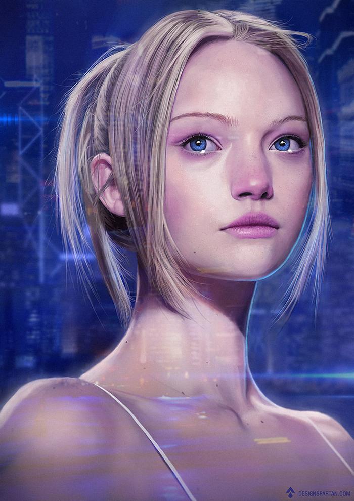 Nouvelle vidéo de digital painting : Portrait d'une femme de science-fiction