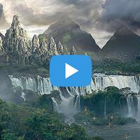 """Tutoriel vidéo avancé de Matte painting sur Photoshop par Spartan : """"le Temple perdu"""""""