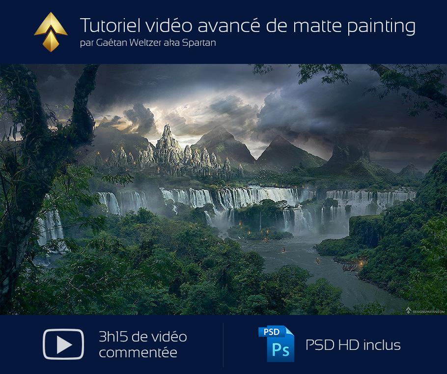 """Tutoriel vidéo avancé de Matte painting par Spartan : """"le Temple perdu"""""""