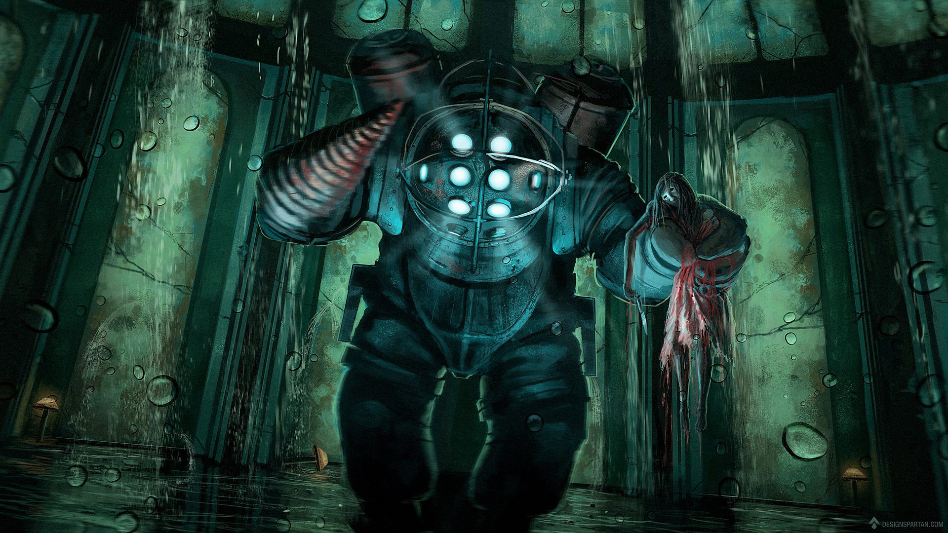 Gaming Painting #2 : Bioshock, digital painting par Spartan