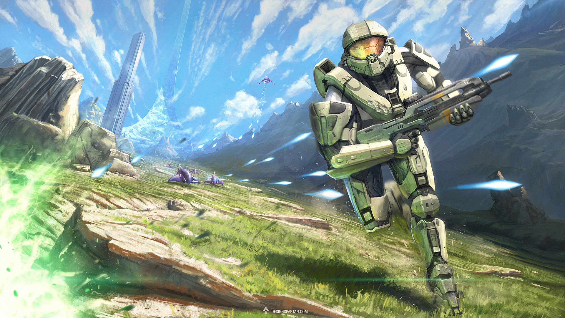 Gaming Painting #1 : Halo, digital painting par Spartan